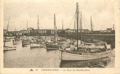 """CPA FRANCE 85 """"Noirmoutier, le Port de l'Herbaudière"""""""