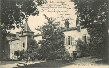 """CPA FRANCE 26 """"Ponsas, chateau de Fontager"""""""