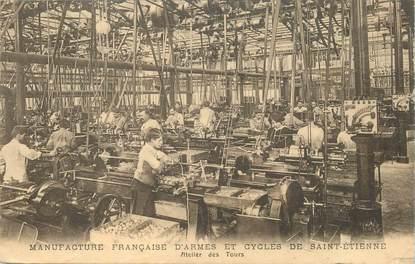 """CPA FRANCE 42 """"Saint Etienne, Manufacture française d'Armes et cycles """""""