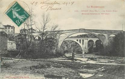 """CPA FRANCE 66 """"Céret, le vieux pont"""""""