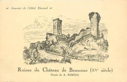 "CPA FRANCE 65 ""Ruines du Chateau de Beaucens"" ROBIDA"
