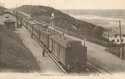 "CPA FRANCE 64 ""Guéthary, la gare"" TRAIN"