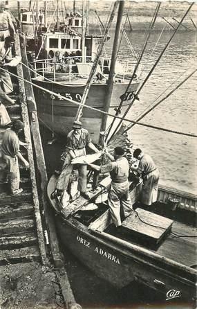 """CPSM FRANCE 64 """"Saint Jean de Luz, débarquement du thon"""""""