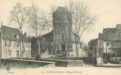 """CPA FRANCE 64 """"Salies de Béarn, L'Eglise Saint Vincent"""""""