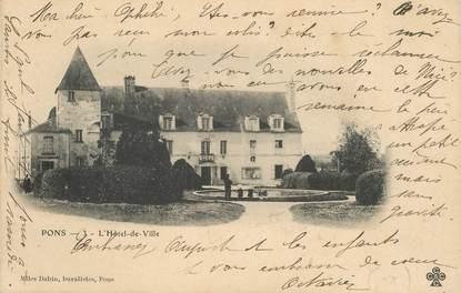 """CPA FRANCE 17 """"Pons, Hotel de ville"""""""