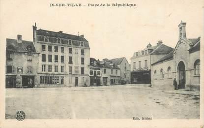 """CPA FRANCE 21 """"Is sur Tille, place de la République"""""""