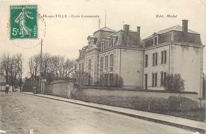 """CPA FRANCE 21 """"Is sur Tille, Ecole communale"""""""