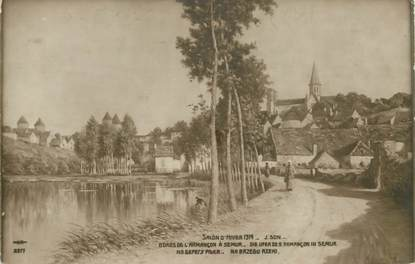 "CPA FRANCE 21 ""Semur, salon 1914"""