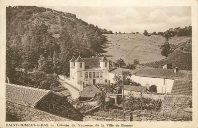 """CPA FRANCE 21 """"Saint Romain le Bas, colonie de vacances de la ville de Beaume"""""""