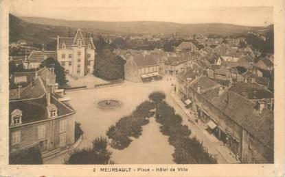 """CPA FRANCE 21 """"Meursault, place de l'Hotel de ville"""""""