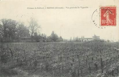 """CPA FRANCE 33 """"Barsac, chateau de Rolland, les vignobles"""""""