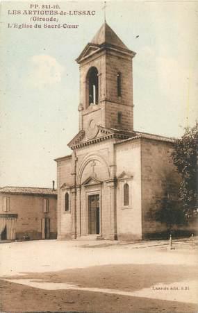 """CPA FRANCE 33 """"Les Artigues de Lussac, l'Eglise du Sacré coeur"""""""