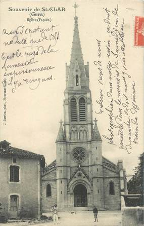 """CPA FRANCE 32 """"Souvenir de Saint Clar"""""""