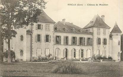 "CPA FRANCE 32 ""Riscle, chateau de Montfort"""