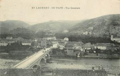 """CPA FRANCE 07 """"Saint Laurent du Pape"""""""