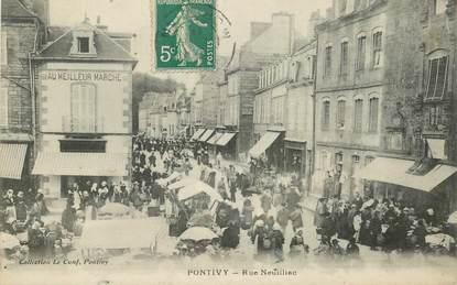 """CPA FRANCE 56 """"Pontivy, rue Neuiliac"""""""