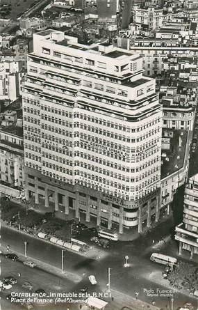 """CPSM MAROC """"Casablanca, Immeuble de La BNCI, Place de France"""""""