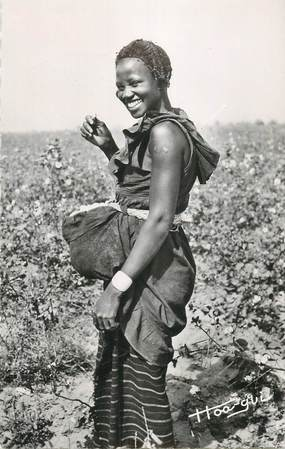 """CPSM BURKINA FASO """"La Récolte du coton"""" FEMME"""