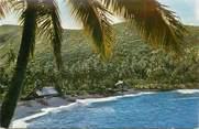 """France CPSM TAHITI """"Lagon et plage de sable noir"""""""
