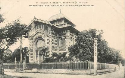 """CPA MARTINIQUE """"Fort de France, la Bibliothèque Schoeicher"""""""
