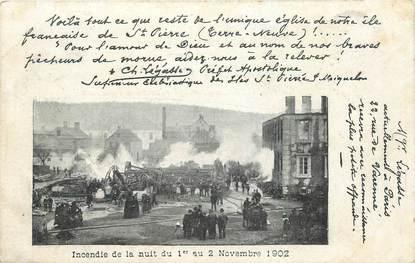 """CPA MARTINIQUE """"Incendie de la nuit du 1er au 2 novembre 1902"""""""