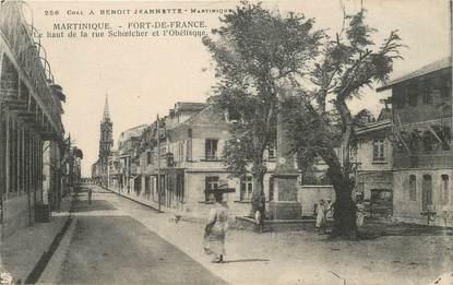 """CPA MARTINIQUE """"Fort de France, la rue Schoelcher et l'Obélisque"""""""