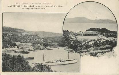 """CPA MARTINIQUE """"Fort de France, l'arsenal maritime et le quartier Gerbault"""""""