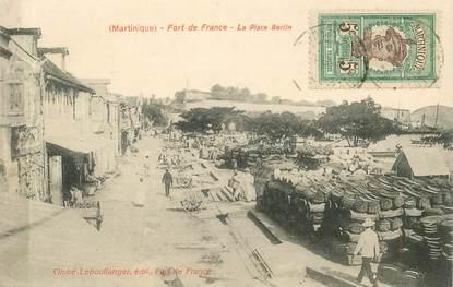 """CPA MARTINIQUE """"Fort de France, la Place Bertin"""""""
