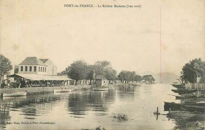 "CPA MARTINIQUE ""Fort de France, la Rivière Madame"""