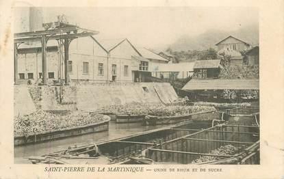 """CPA MARTINIQUE """"Saint Pierre de la Martinique, Usine de Rhum et de sucre"""""""