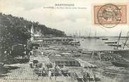 """Martinique CPA MARTINIQUE """"Saint Pierre, la Place Bertin avant l'éruption"""""""