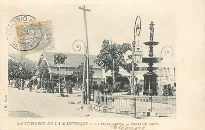 """CPA MARTINIQUE """"Saint Pierre de la Martinique, la Place Bertin"""""""
