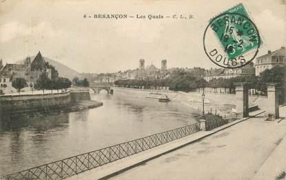 """CPA FRANCE 25 """"Besançon, les quais"""""""