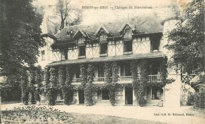 "CPA FRANCE 77 ""Rozoy en Brie, Chateau de Blandureau"""