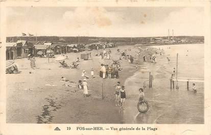 """CPA FRANCE 13 """"Fos sur Mer, vue générale de la plage"""""""