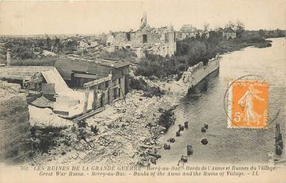 "CPA FRANCE 02 ""Berry au Bac, les ruines"""