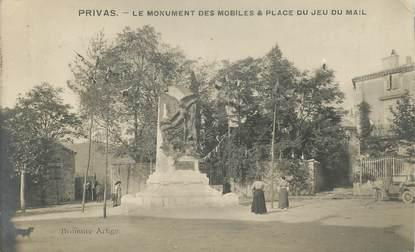 """CPA FRANCE 07 """"Privas, le monument aux morts"""""""