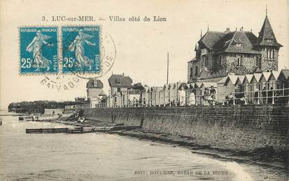 """/ CPA FRANCE 14 """"Luc sur Mer, villas côté de Lion"""""""