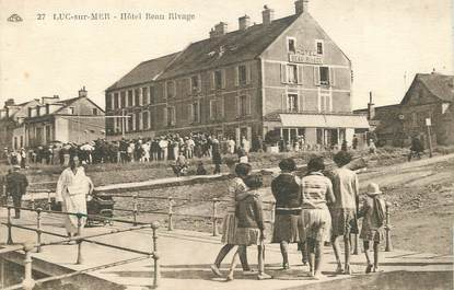 "/ CPA FRANCE 14 ""Luc sur Mer, hôtel Beau rivage"""