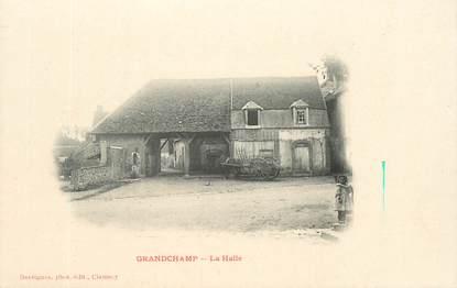 """CPA FRANCE 58 """"Grandchamp, la halle"""""""