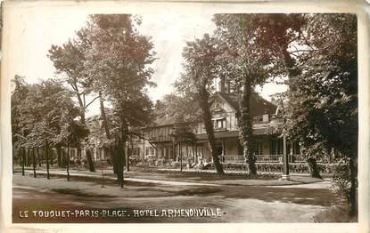 """CARTE PHOTO FRANCE 62 """"Le Touquet , Hotel Armenonville"""""""