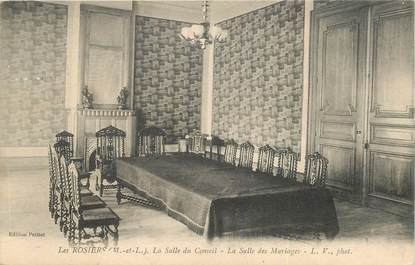 """CPA FRANCE 49 """"Les Rosiers, la salle des mariages et du Conseil"""""""