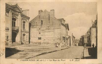 """CPA FRANCE 49 """"Ingrandes, la rue du Port"""""""