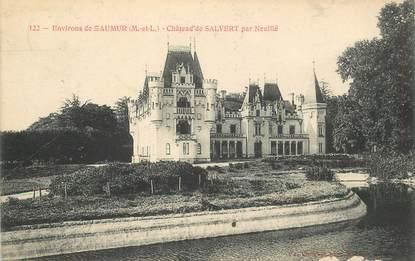 """CPA FRANCE 49 """"Env. de Saumur, Chateau de Salvert par Neuillé"""""""