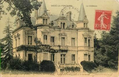 """CPA FRANCE 49 """"Doué la Fontaine, le chateau"""""""