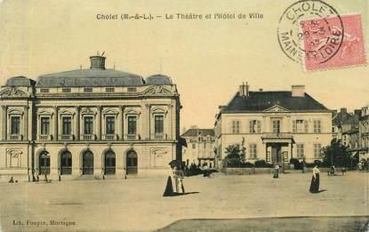 """CPA FRANCE 49 """"Cholet, le théâtre et l'Hotel de ville"""""""