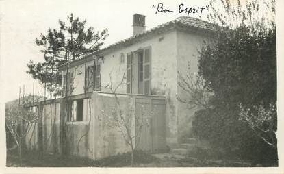 "/ CARTE PHOTO FRANCE 83 ""Maison, Bon esprit"""