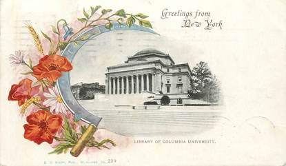 """CPA USA """"New York, Library of Columbia University"""""""