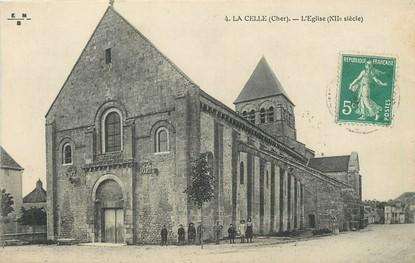 """/ CPA FRANCE 18 """"La Celle, l'église"""""""