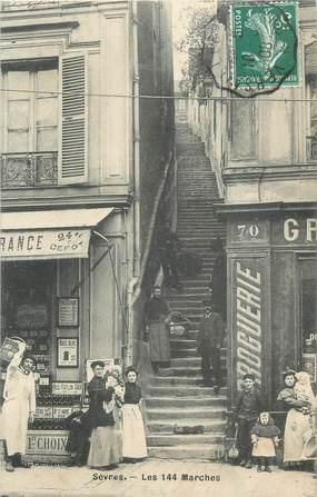 """CPA France 92 """" Sèvres, Les 144 Marches"""""""